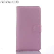 For Sony xperia C4 pu litchi Leather Case Cover(9 colors)