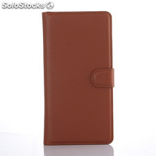 For Sony XPERIA C5 ultra PU litchi Leather Case Cover (9 colors)