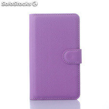 For Sony xperia E4 pu litchi Leather Case Cover (9 colors)