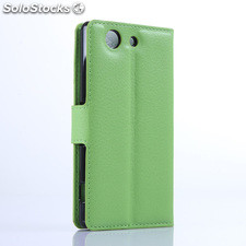 For Sony XPERIA Z4 mini PU litchi Leather Case Cover (9 colors)