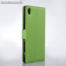 For Sony xperia Z4 pu litchi Leather Case Cover (9 colors)