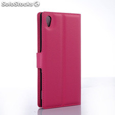 For Sony xperia Z5 pu litchi Leather Case Cover (9 colors)