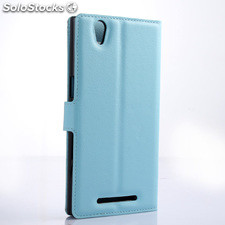 For ZTE grand Zmax Z970 PU litchi Leather Case Cover (9 colors)