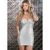 Forplay mini vestido de palabra de honor plateado - forplay - 847890262459 -