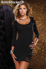 Forplay mini vestido negro manga larga - forplay