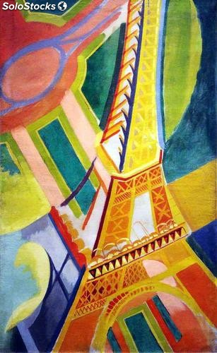 Fotomural Abstracto Torre Eiffel - w:245cm. X h:400 cm.