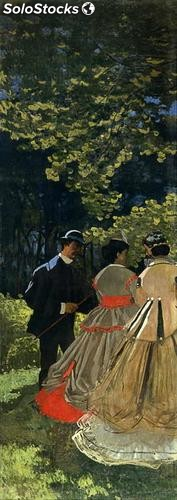 Fotomural Impresionismo Luncheon on the Grass, Left Panel, 1865 - w:142cm. X