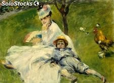 Fotomural Impresionismo Madame Monet and her Son - w:300cm. X h:250 cm.