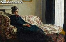 Fotomural Impresionismo Meditation, Madame Monet Sitting on a Sofa, 1870-71 -
