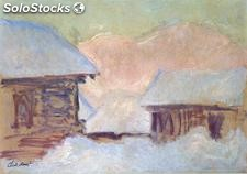 Fotomural Impresionismo Norway, Houses under the Snow, 1895 - w:300cm. X h:250