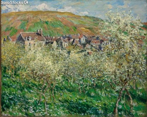 Fotomural Impresionismo Plum Trees in Blossom at Vetheuil, 1879 - w:300cm. X