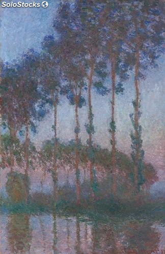 Fotomural Impresionismo Poplars on the Banks of the River Epte in the Morning