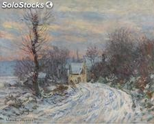Fotomural Impresionismo Road to Giverny in Winter, 1885 - w:300cm. X h:250 cm.