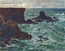 Fotomural Impresionismo Rocks at Port-Coton, the Lion, 1886 - w:300cm. X h:250