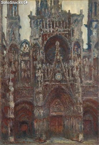 Fotomural Impresionismo Rouen Cathedral, The Portal, Harmony in Brown, 1894 -