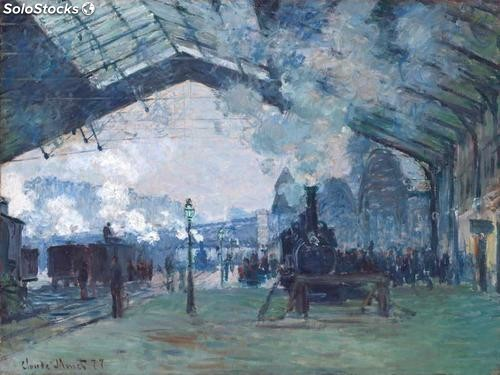 Fotomural Impresionismo Saint-Lazare Station, Normandy Train, 1877 - w:300cm. X