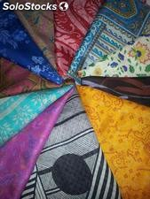 Foulard en soie extrait du saris made in india