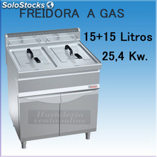 Freidora a gas movilfrit FG15+15