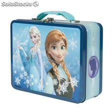 Frozen Tin Lunch Box Blue Version With Blue Trim