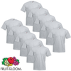 Fruit of the Loom Camiseta grande Value Weight gris 3XL 10 uds