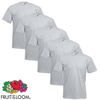 Fruit of the Loom Camiseta grande Value Weight gris 3XL 5 uds