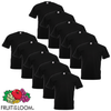 Fruit of the Loom Camiseta grande Value Weight negra 3XL 10 uds
