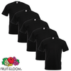 Fruit of the Loom Camiseta grande Value Weight negra 3XL 5 uds