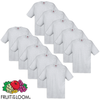 Fruit of the Loom Camiseta original 100% algodón gris 10 uds