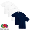 Fruit of the Loom Camiseta para niños 5 uds blanco y azul talla 152