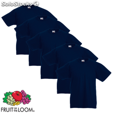 Fruit of the Loom Camiseta para niños 5 unidades azul talla 128