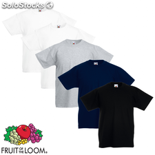 Fruit of the Loom Camiseta para niños 5 unidades multicolor talla 164