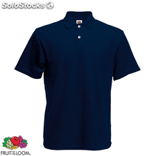 Fruit of the Loom Camiseta polo azul marino talla S para hombres