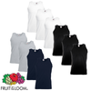 Fruit of the Loom Camiseta sin mangas algodón multicolor XXL 10 uds