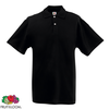 Fruit of the Loom Camiseta tipo polo negra XXXL para hombres