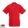 Fruit of the Loom Camiseta tipo polo roja talla M para hombres