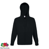 Fruit of the Loom Hoodie liviano con cremallera negro talla L