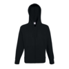 Fruit of the Loom Hoodie liviano con cremallera negro talla XL - Foto 2
