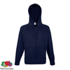 Fruit of the Loom Hoodie liviano cremallera azul marino talla L