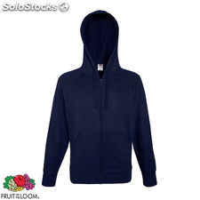 Fruit of the Loom Hoodie liviano cremallera azul marino talla S