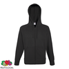 Fruit of the Loom Hoodie liviano cremallera grafito claro talla S
