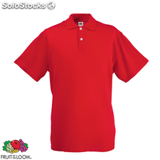 Fruit of the Loom Polo Homme Rouge Original S