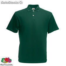 Fruit of the Loom Polo Homme Vert forêt Original S