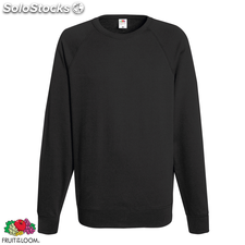 Fruit of the Loom Sudadera cuello redondo grafito claro talla L
