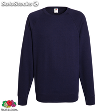Fruit of the Loom Sudadera de cuello redondo azul marino talla XL