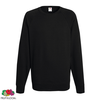 Fruit of the Loom Sudadera de cuello redondo negra talla XXL