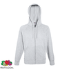 Fruit of the Loom Sweat à capuche zippé Hoodie Gris chiné L