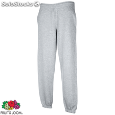 Fruit of the Loom Sweat Pants Ourlet élastique Gris chiné S