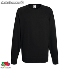 Fruit of the Loom Sweat shirt col ras du cou Homme Noir S