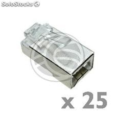 FTP connector Cat.6 RJ45 male to crimp cable 25-pack (RH15)