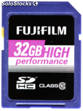Fujifilm 32GB SDHC tarjeta High Performance / Class 10